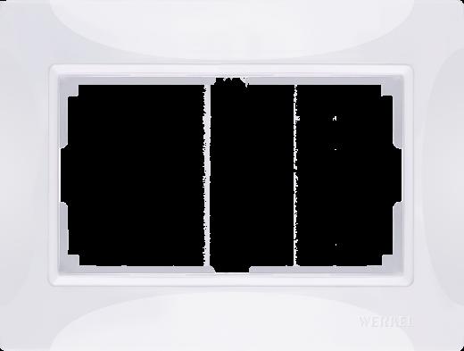 Рамка для двойной розетки WL03-Frame-01-DBL-white Basic Белый