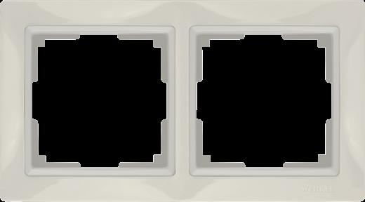Рамка на 2 поста Werkel WL03-Frame-02 Basic Слоновая кость