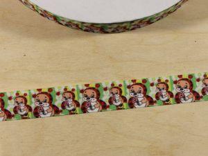 Лента репсовая с рисунком, ширина 22 мм, длина 10 м, Арт. ЛР5835