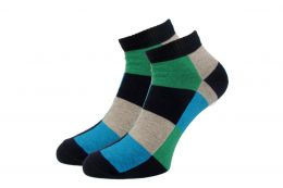 """Мужские укороченные носки 418 """"К"""" Квадраты"""