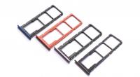Лоток sim-карты и micro SD Huawei Honor 8X (red) Оригинал