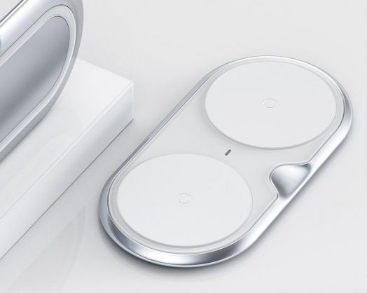 Беспроводное зарядное устройство Baseus Dual Wireless Metal Style