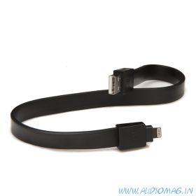 TYLT IP5-DATA12BK-T (плоский кабель/Lightning/длинна 30см./черный)