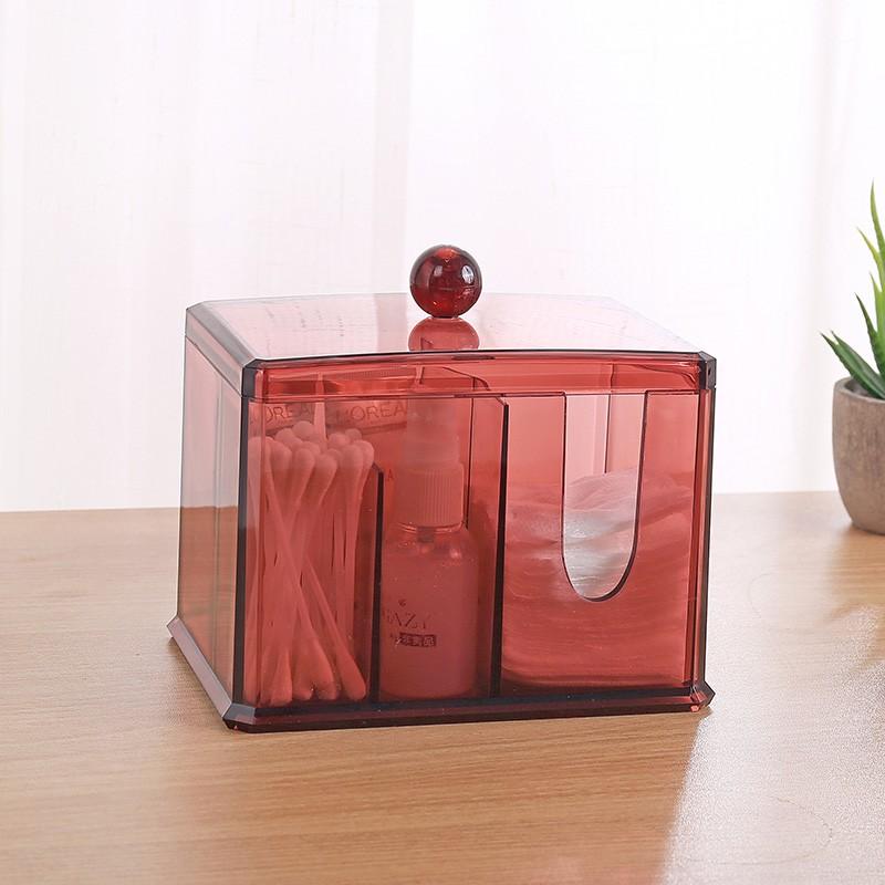 Акриловый контейнер для хранения мелочей Multi-Functional Storage Box QFY-3125, Цвет Бордовый