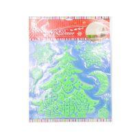 Набор светящихся новогодних наклеек Merry Christmas, 30х40 см, Новогодняя Елка (2)