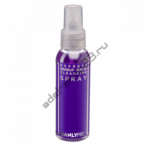 Manly PRO - Очиститель для кистей для макияжа без спирта, спрей
