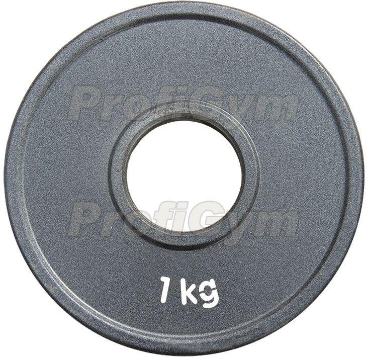 Диск стальной «Powerlifting» с полимерным покрытием, 1 кг