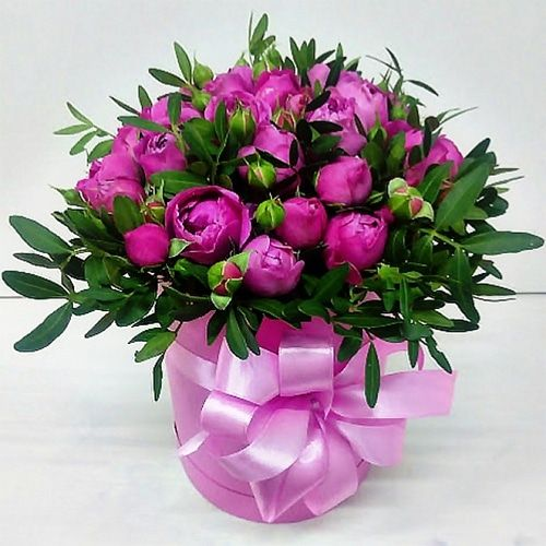 """Букет из пионовидных роз """"Гламур"""""""