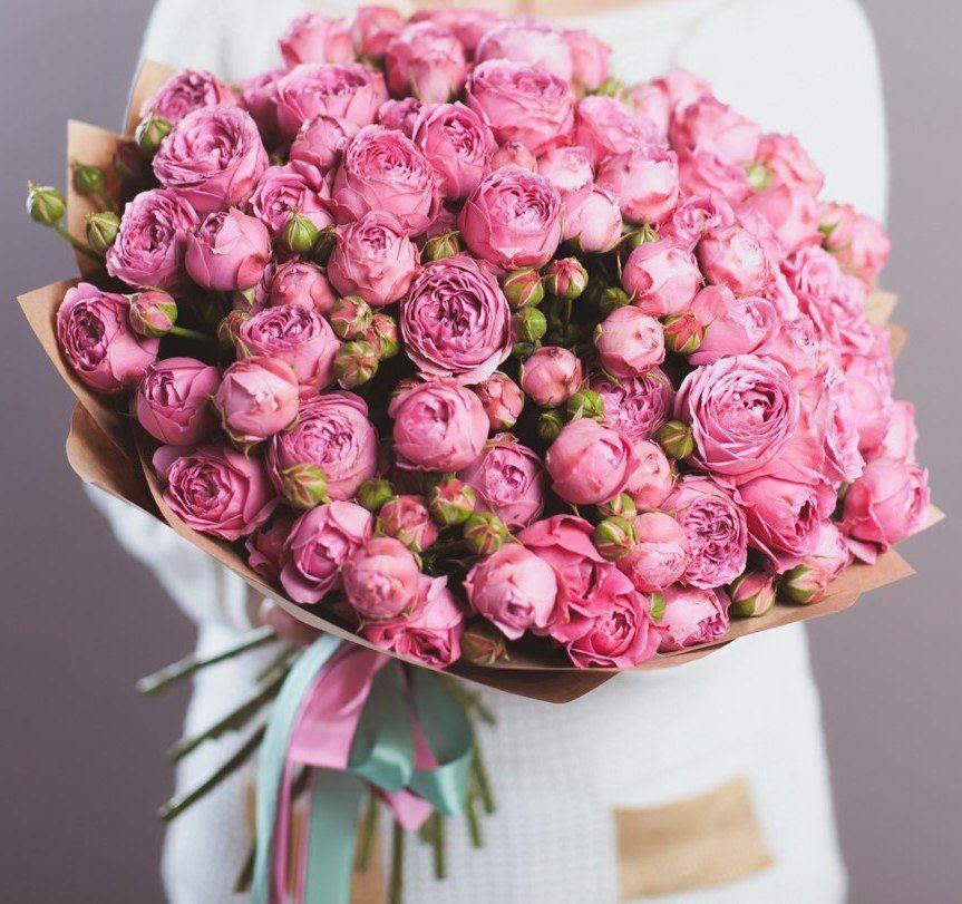 """Букет из 51 пионовидной розы """"Волшебство"""""""