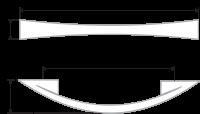 Мебельная ручка-скоба 171 мм RS005GP.4/128