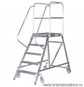 Лестница-платформа односторонняя Krause STABILO с пятью алюминиевыми ступеньками 820150