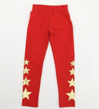 Лосины для девочки 3-7 лет Bonito kids красные со звездами