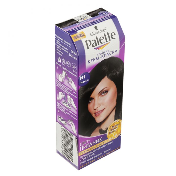 Краска д/волос PALETTE №1 черный