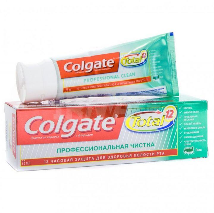 Зуб. паста Colgate 75мл гель Total проф.чистка