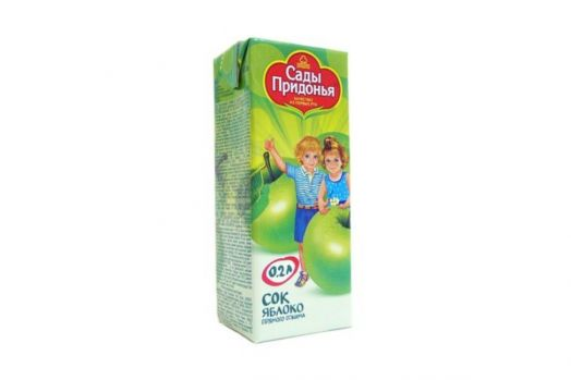 Сок Сады придонья 0,2л яблоко прямой отжим фн