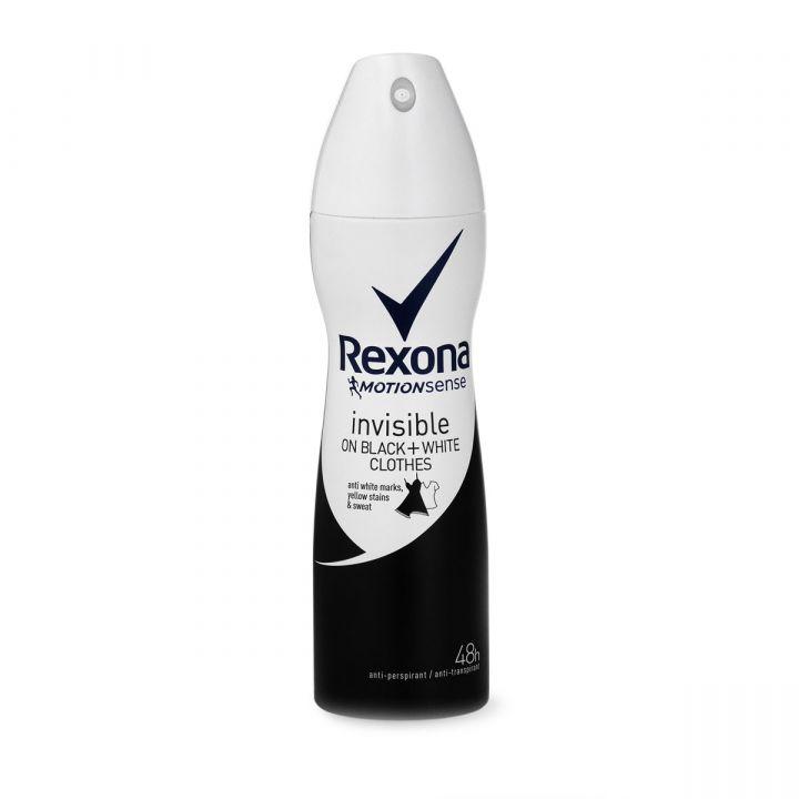 Дезодорант Rexona 150мл Невидимый на черном и белом спрей фн