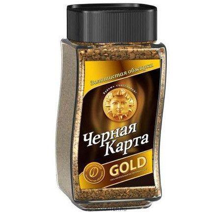 Кофе Черная карта Голд раств. ст/б 190г