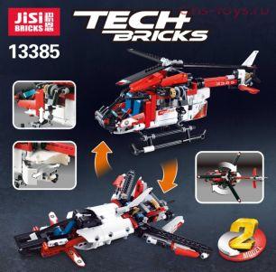 Конструктор JISI BRICKS Спасательный вертолёт 13385 (Аналог LEGO Technic 42092) 344 дет