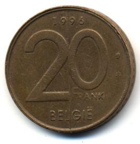 Бельгия 20 франков 1996