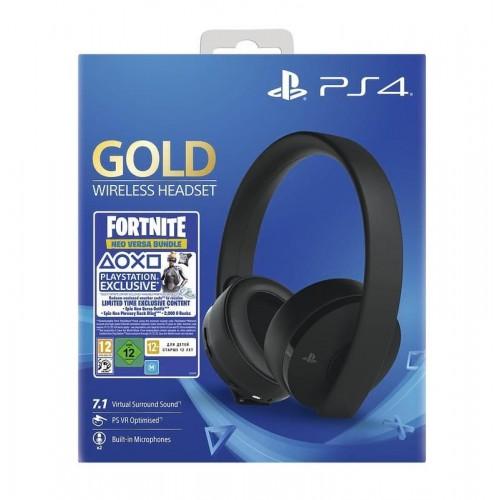 Гарнитура беспроводная черная Gold для PS4 (CUHYA-0080) + ваучер Fortnite Neo Versa Bundle