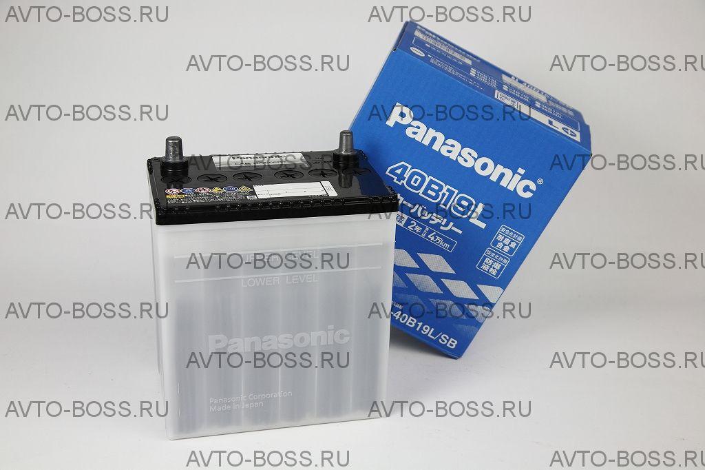Аккумулятор автомобильный Panasonic 40B19R (тонкие клеммы)