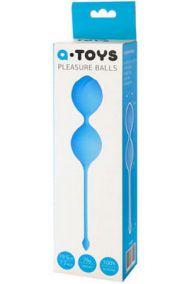 Вагинальные шарики силиконовые Toyfa A-toys Pleasure Balls голубые