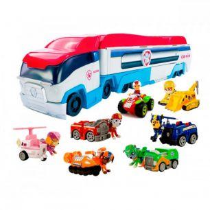Большой синий Автовоз патрулевоз + и команда из 7 спасателей (Щенячий патруль)
