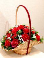 букет мыльных роз