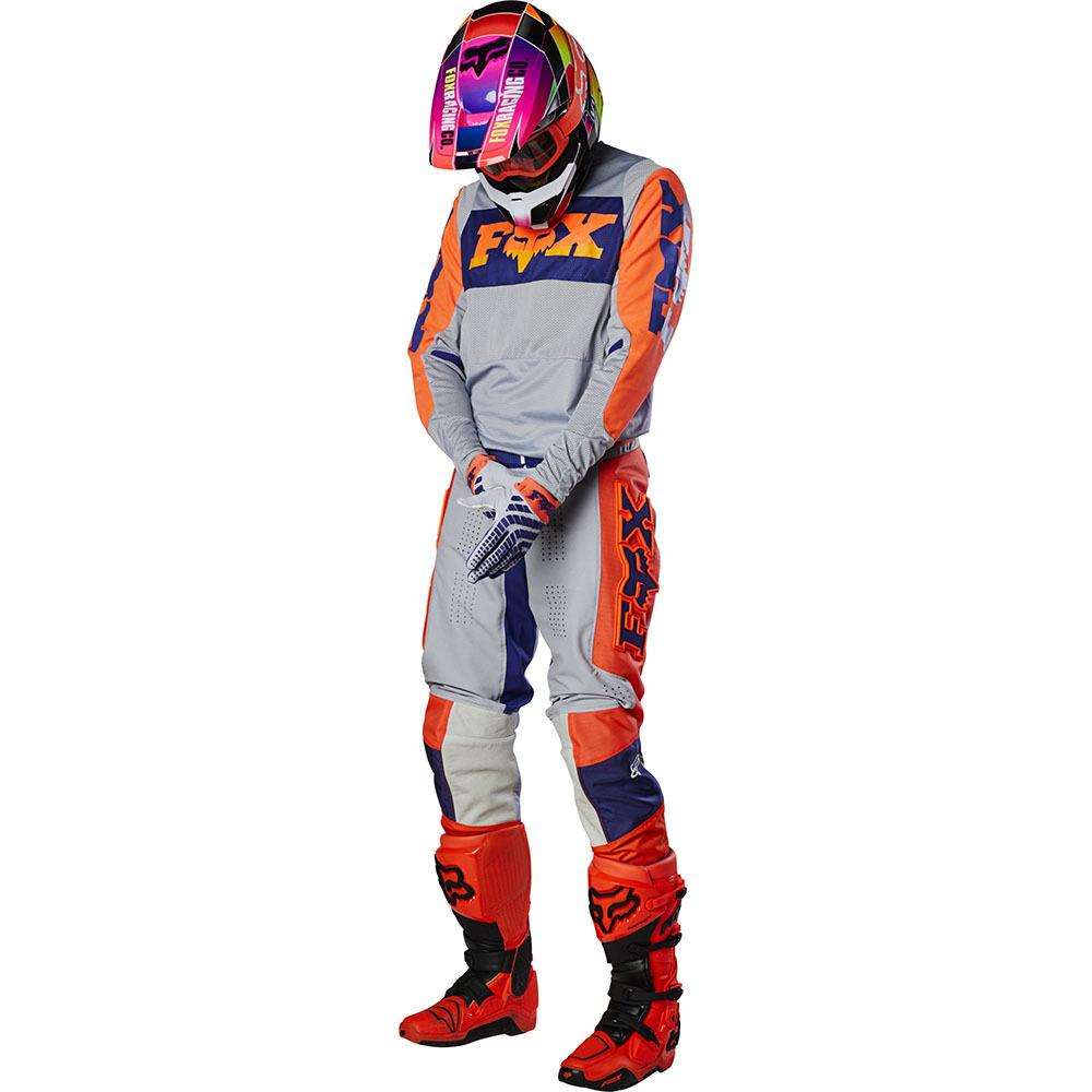 Fox - 2020 360 Linc Grey/Orange комплект джерси и штаны, серо-оранжевый