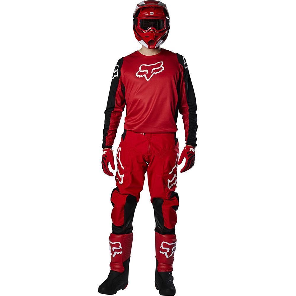 Fox - 2020 180 Prix Flame Red комплект джерси и штаны, красный