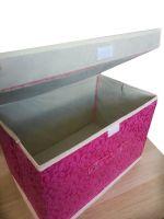 Складной короб для хранения вещей, 36х24х24 см, цвет Тёмно-розовый (3)