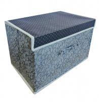 Складной короб для хранения вещей, 36х24х24 см, цвет Серый