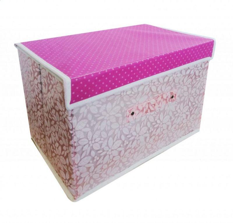 Складной Короб Для Хранения Вещей, 36х24х24 См, Цвет Светло-Розовый