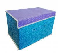 Складной короб для хранения вещей, 36х24х24 см, цвет Голубой