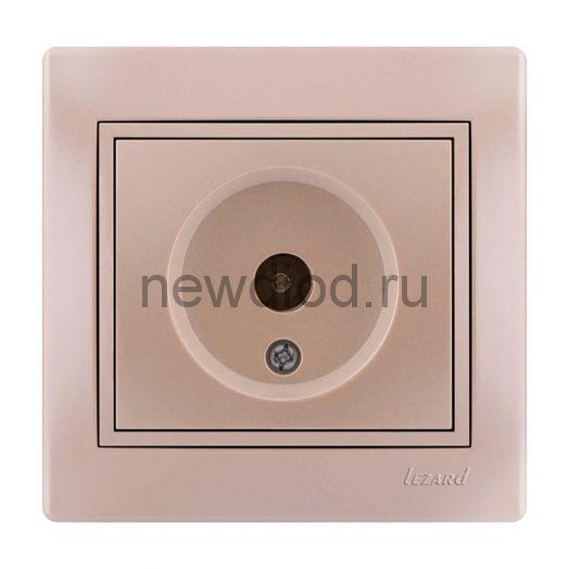 MIRA Розетка ТВ проходная жемчужно-белый  перламутр со вставкой Lezard