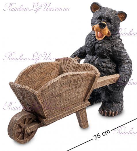 """Кашпо Медведь с тачкой """"Sealmark"""""""