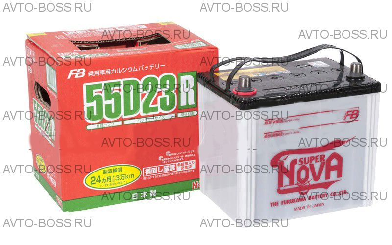 Аккумулятор FB SUPER NOVA 55D23R Ёмкость 60 Ah, пусковой ток 550 А, 230x169x225
