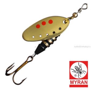 Блесна вертушка Myran Toni-Z 5гр / цвет: Guld 6420-02