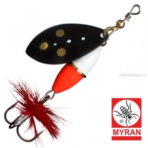 Блесна вертушка Myran Wipp Hot 7гр / цвет: Svart 6542-09