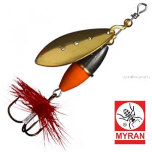 Блесна вертушка Myran Wipp Orange Svart 10гр / цвет: Guld 6443-02