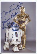 Автографы: Энтони Дэниелс, Кенни Бейкер. Звёздные войны