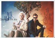 Автографы: Майкл Шин, Дэвид Теннант. Благие знамения