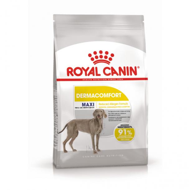 Корм сухой ROYAL CANIN MAXI DERMACOMFORT для взрослых собак крупных пород с чувствительной кожей 3кг