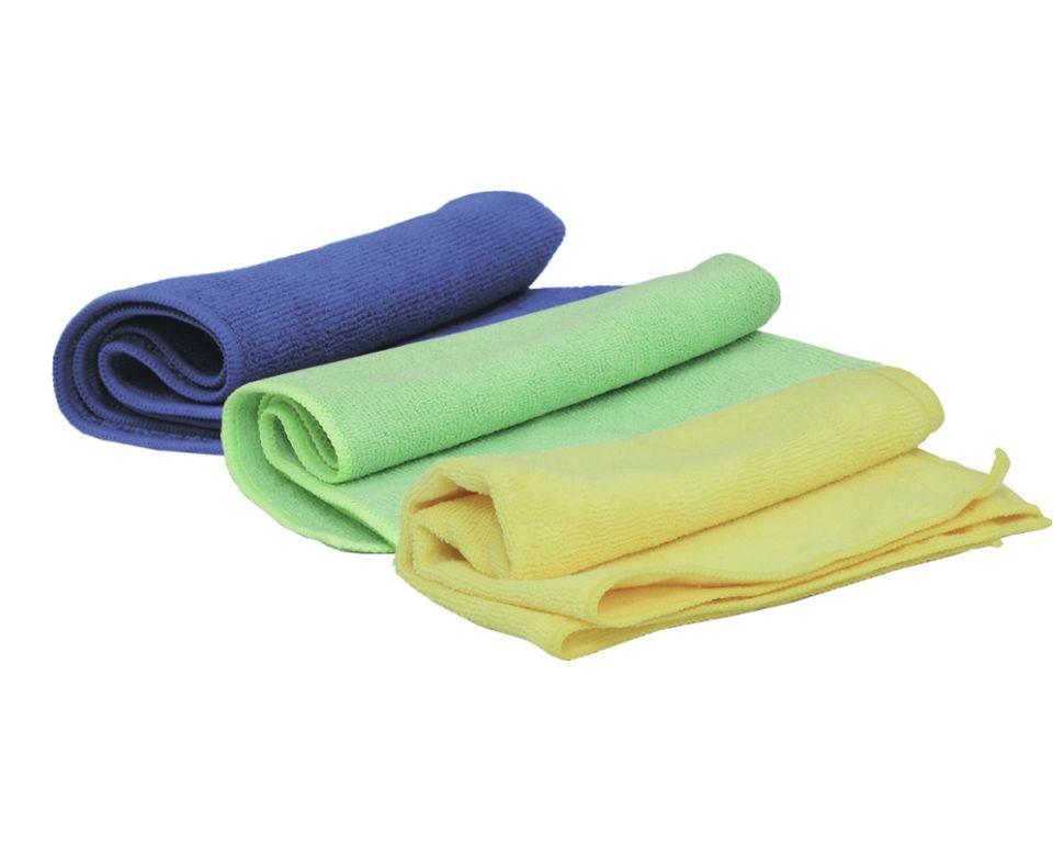 Jeta Microfiber Blue Полировальные салфетки многоразовые из микрофибровой ткани, вес 330 г/м2, желтый