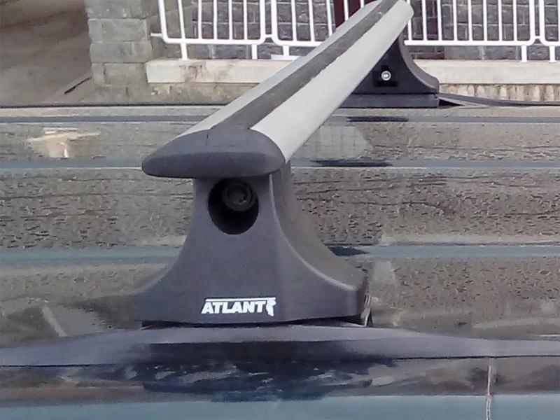 Багажник на крышу UAZ Patriot, Атлант, крыловидные дуги