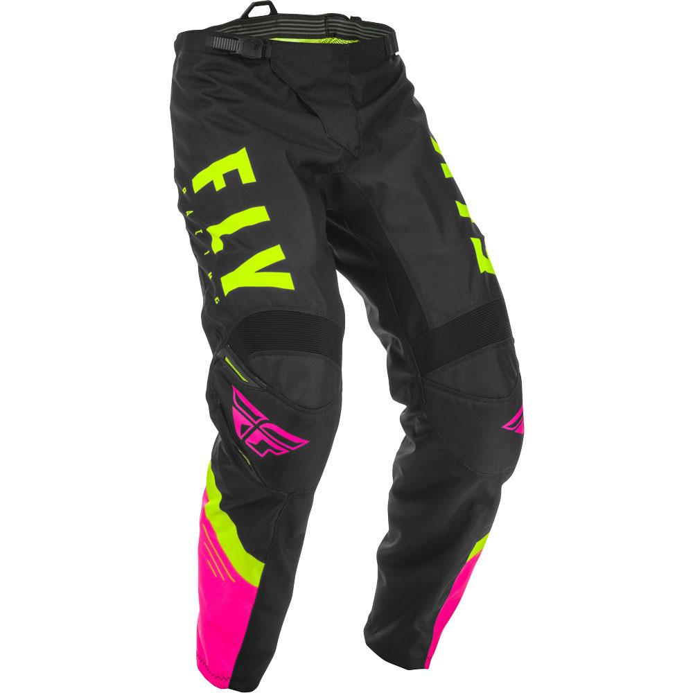Fly - 2020 F-16 Neon Pink/Black/Hi-Viz штаны, розово-черно-желтые