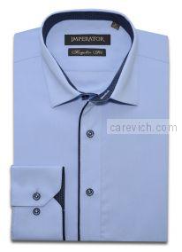 "Рубашки ПОДРОСТКОВЫЕ ""IMPERATOR"", оптом 12 шт., артикул: Cashmere Blue/Kassel 4-П"
