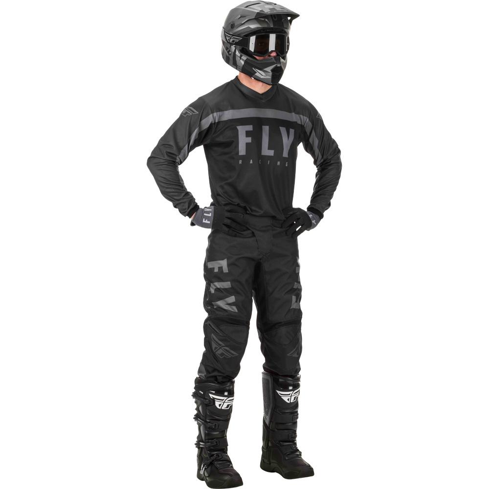 Fly - 2020 F-16 Black/Grey комплект штаны и джерси, черно-серый