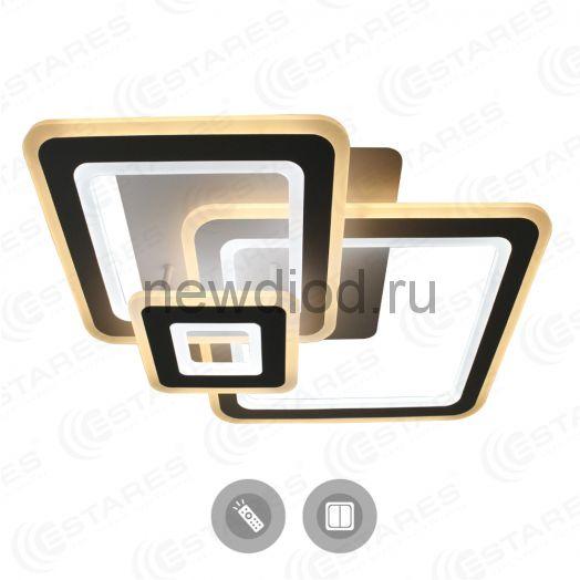Управляемый светодиодный светильник TRIPLEX SQUARE 124W S-700/600-WHITE/WHITE-220-IP44/2019