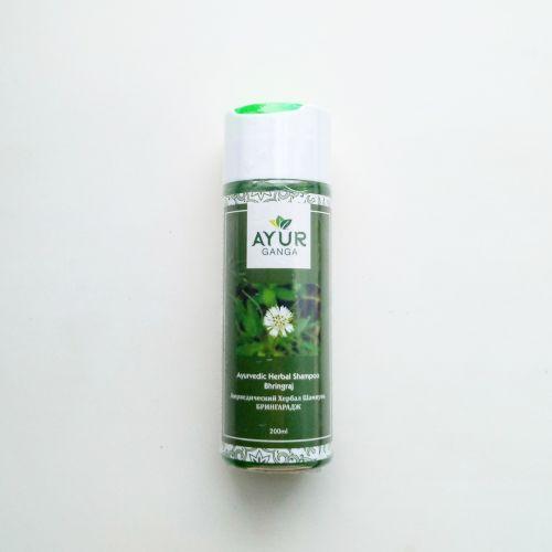 Шампунь аюрведический травяной Брингарадж | Ayurvedic Herbal Shampoo Bhringraj | 200 мл | AyurGanga